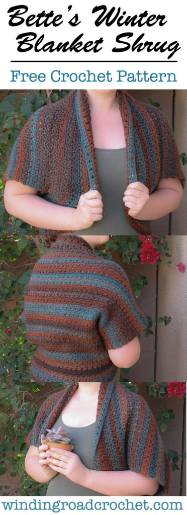 Free crochet pattern for a quick  and easy blanket shrug to keep you warm on cool summer nights.
