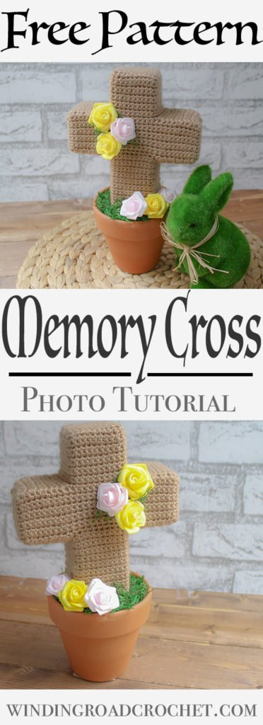 Losing a loved one is hard, but creating a memorial to remind you of them is easy with this crochet cross photo tutorial.