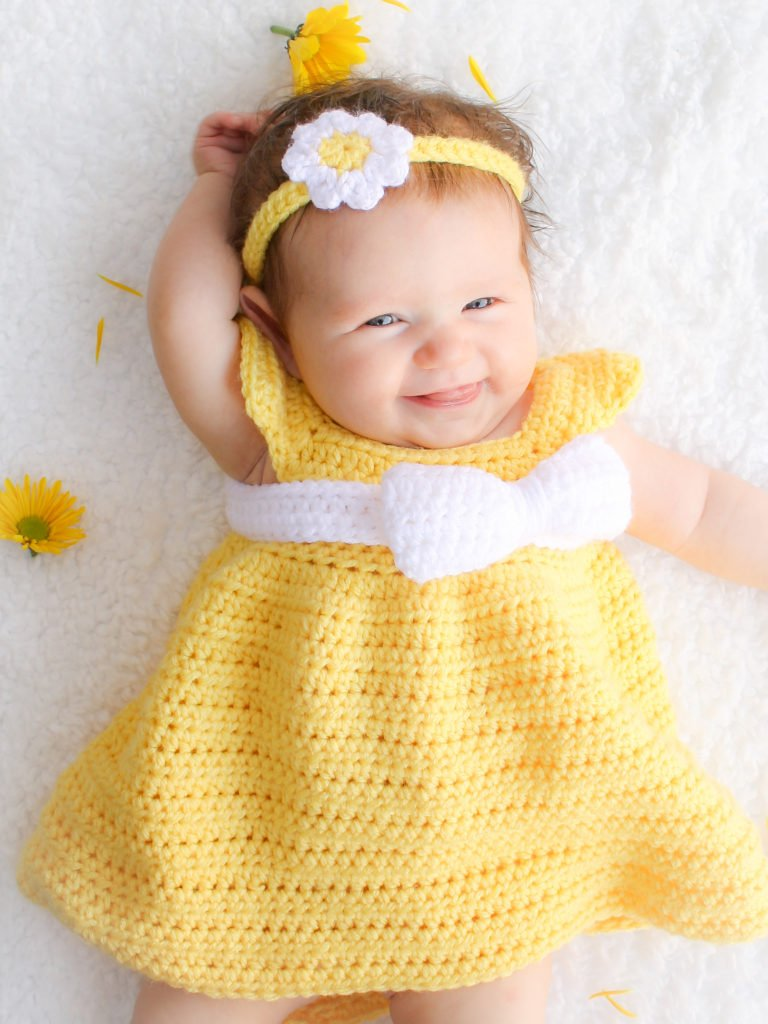Simply Spring Crochet Baby Dress: Newborn-6 Months - Winding Road ...