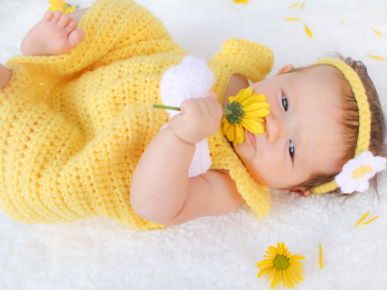 1f2001b2a Simply Spring Crochet Baby Dress: Newborn-6 Months - Winding Road ...