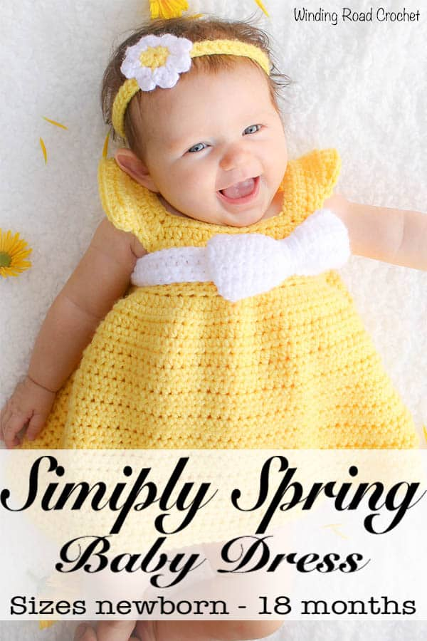 Simply Spring Crochet Baby Dress Newborn 6 Months Winding Road