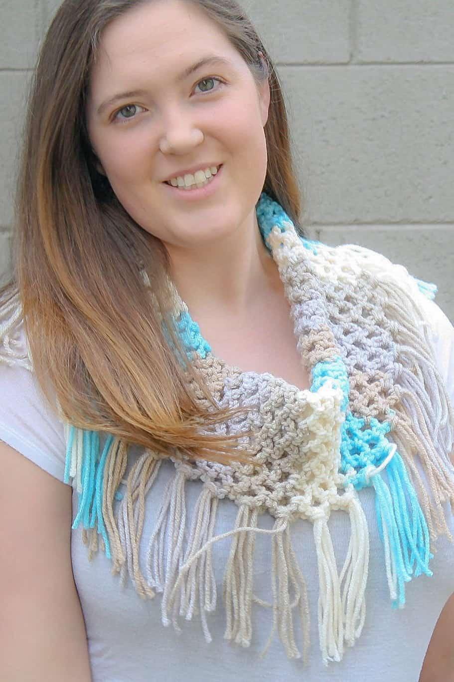 Spring Fringe Cowl: Free Crochet Pattern - Winding Road Crochet