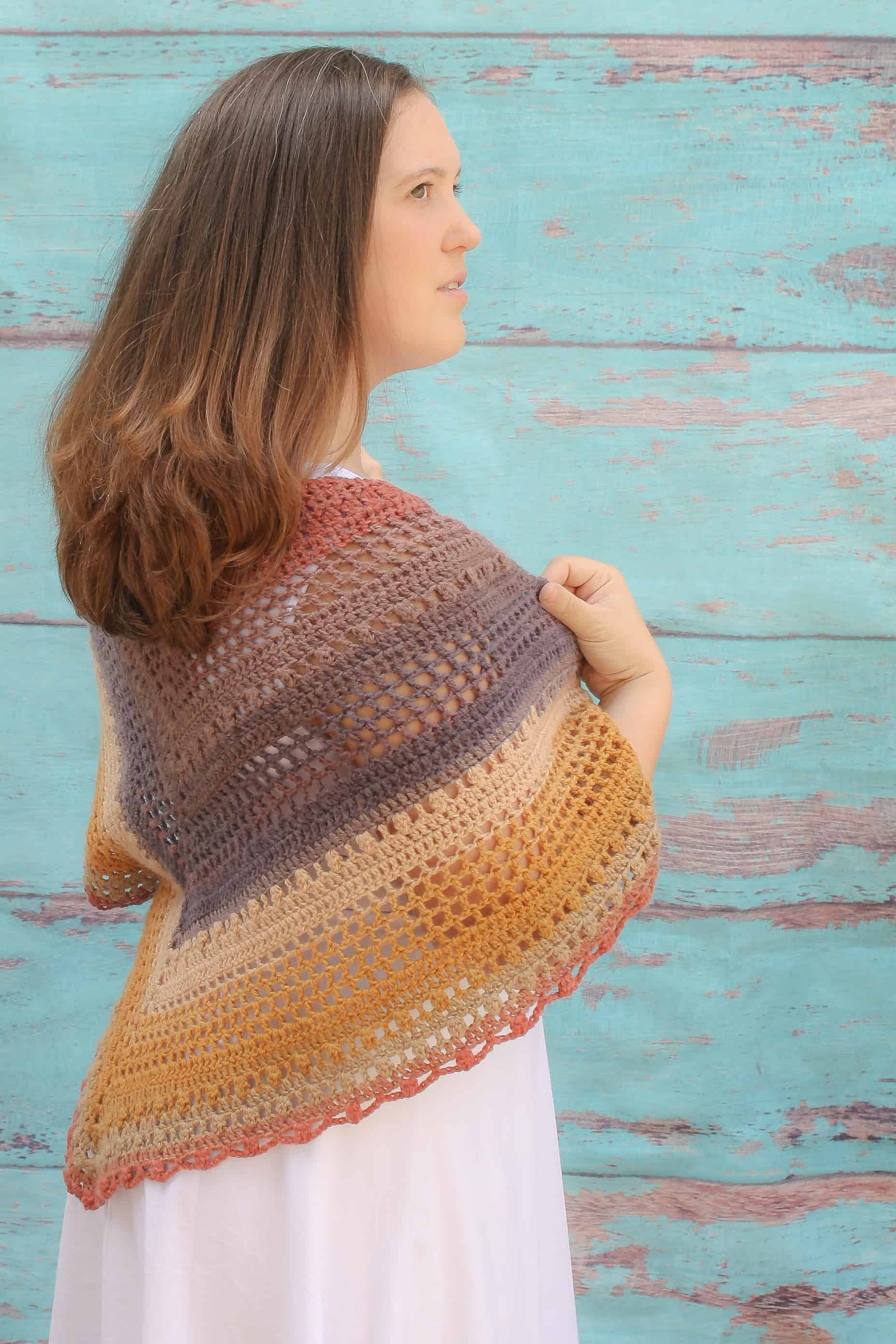 Desert Sunset Shawl Free Crochet Pattern Winding Road Crochet