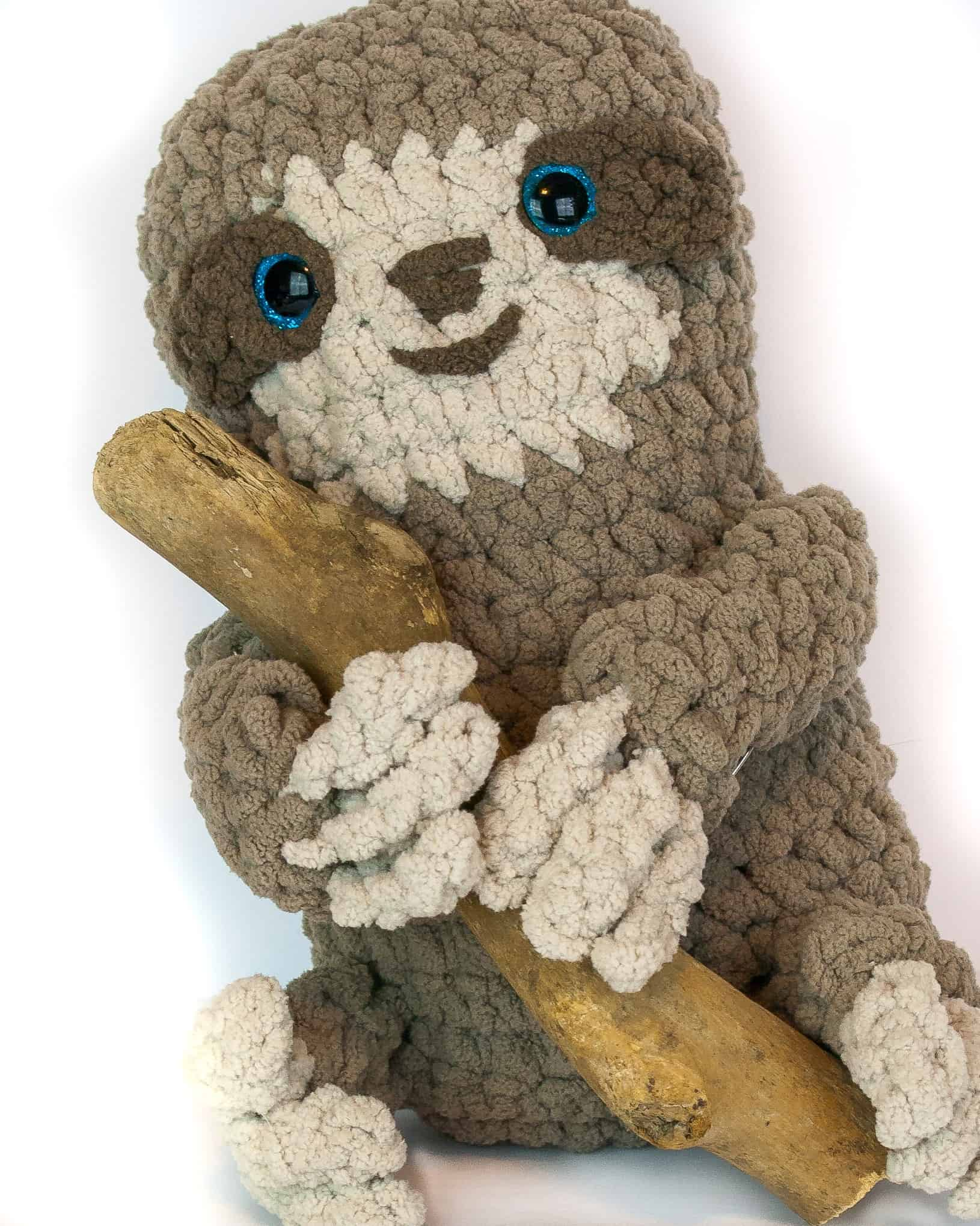ef1b780a6d281b One skein of yarn and you can have this adorable plush sloth! He is easy. Crochet  Patterns