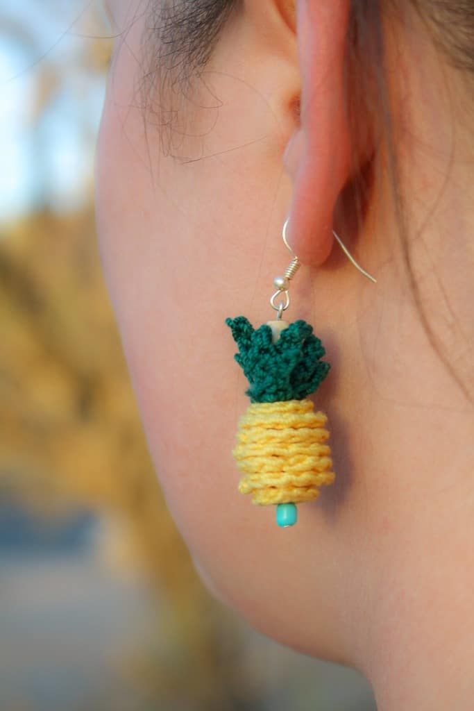 Crochet Pineapple Pendant Free Crochet Pattern Winding Road Crochet