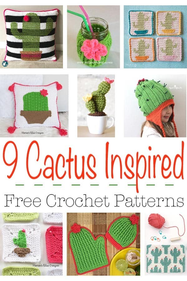 I have rounded up my 9 favorite free cactus crochet patterns from some of the most creative bloggers. These fun and prickly crochet patterns are sure to add a bit of southwest organic sunny flair to your home. #cactus #crochet #freepattern #roundup #free