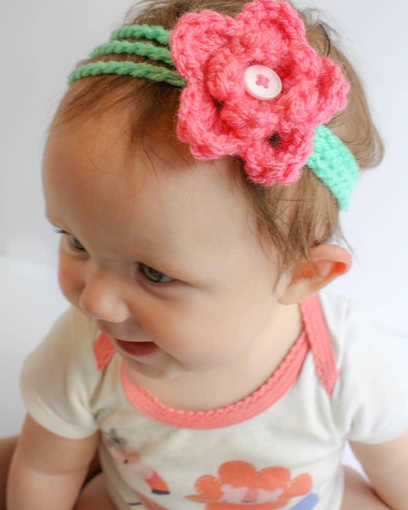 Rosey\'s Headband Free Crochet Pattern - Winding Road Crochet