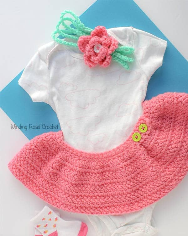 The Herringbone Baby Skirt is a beautiful free crochet pattern that is quick and easy. The skirt has simple construciton and the only challenge is getting use to the Herringbone stitch. I have provided a photo tutorial to help teach this special stitch. Sizes 3 months to 24 months included. #babyskirt #babygirl #babycrochet #babydress #crochet #freepattern