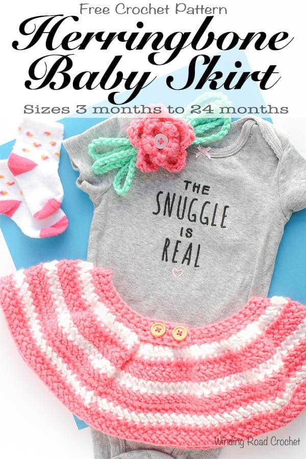 Herringbone Baby Skirt Free Crochet Pattern Winding Road Crochet