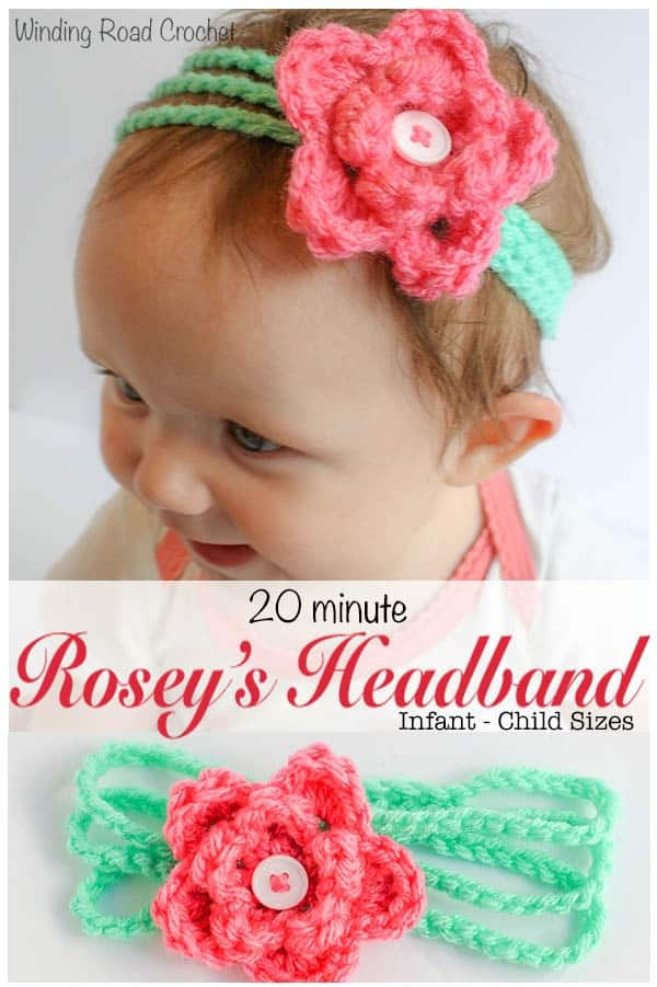 Roseys Headband Free Crochet Pattern Winding Road Crochet