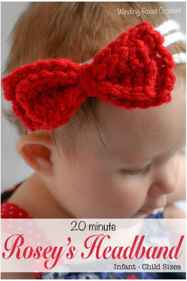 Roseys Headband Free Crochet Pattern Winding Road Crochet