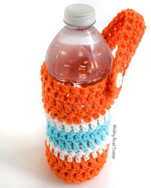 On The Go Water Bottle Carrier Free Crochet Pattern Winding Road