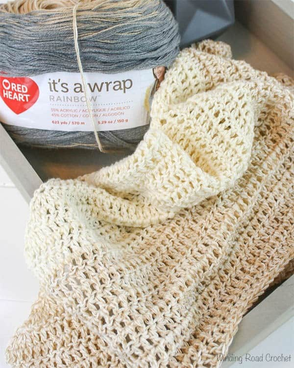 My First Triangle Shawl Free Crochet Pattern - Winding Road
