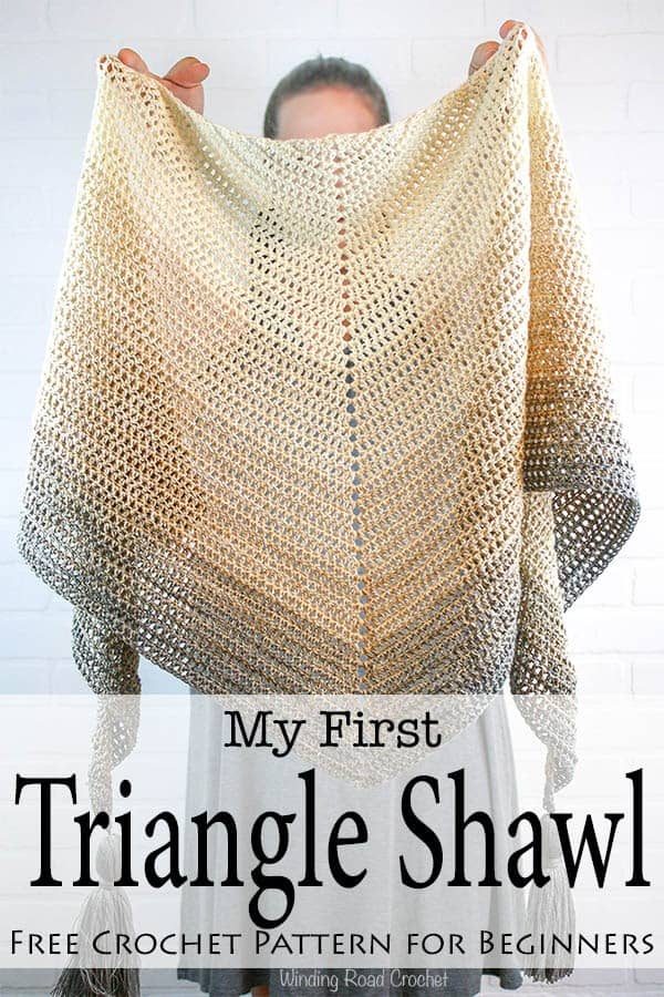 My First Triangle Shawl Free Crochet Pattern Winding