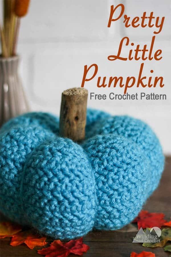 Pretty Little Crochet Pumpkin Free Pattern | This little pumpkin is great for your fall decorations. This crochet pumpkin has a unique texture and is a fun quick project. #pumpkin #crochet #crochetpumpkin #fallcrochet