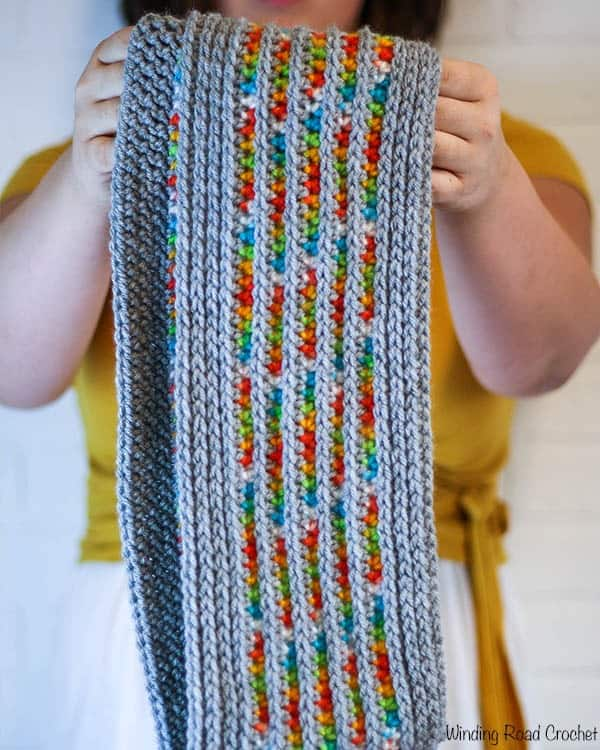 Rainbows And Rain Clouds Infinity Scarf Free Crochet Pattern