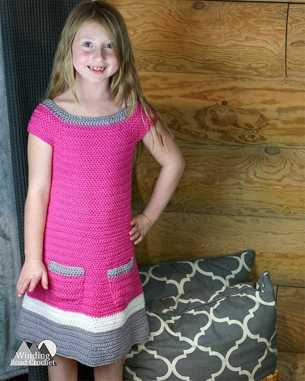 Emma Crochet Dress Free Pattern Winding Road Crochet