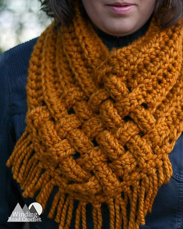 Woven Cowl Free Crochet Pattern Winding Road Crochet