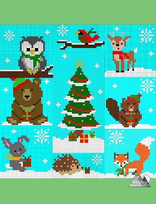 Woodland Winter Wonderland C2C Blanket