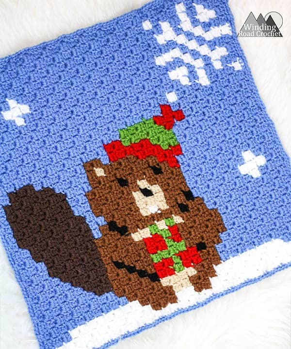 Busy Beaver C2C Crochet Graph - Winding Road Crochet