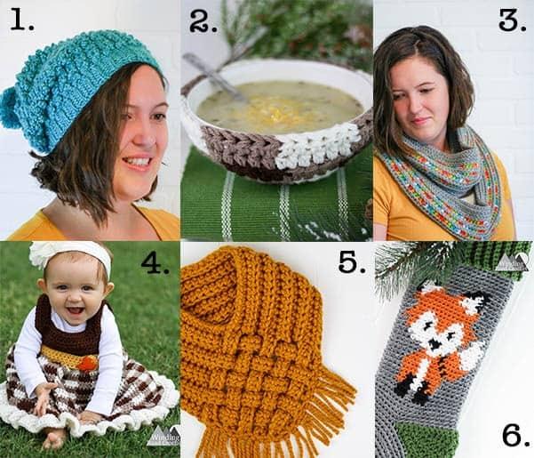 free crochet patterns from Winding road crochet