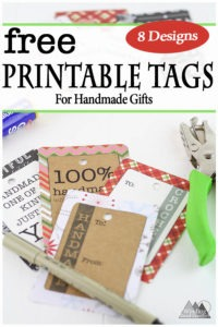 Free Printable Handmade Gift Tags   I have created a small series of gifts for my newsletter subscribers including these free printable handmade gift tags. These tags for perfect for crocheted, knitted or any crafted gift. 8 designs total. #printable #freeprintable #handmade #crochet