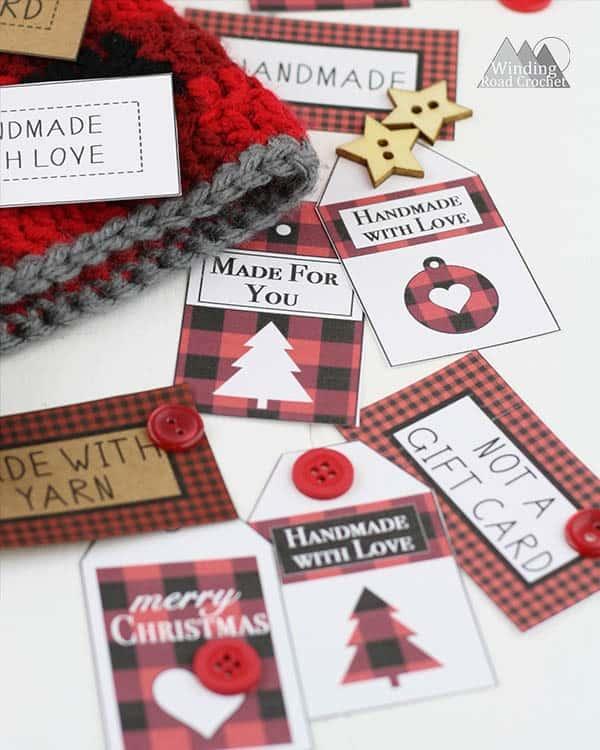 free printable plaid gift tags