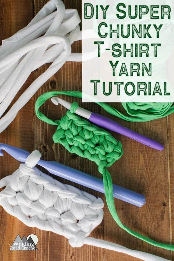 Learn to make super thick T-shirt yarn for knitting, crocheting or weaving. #tshirtyarn #upcycle #tshirtyarntutorial
