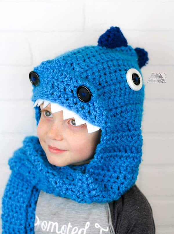hooded dragon scarf