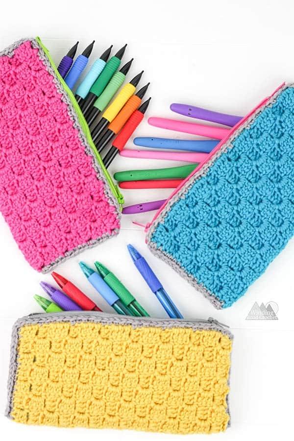 C2c Zipper Pouch Free Crochet Pattern Winding Road Crochet