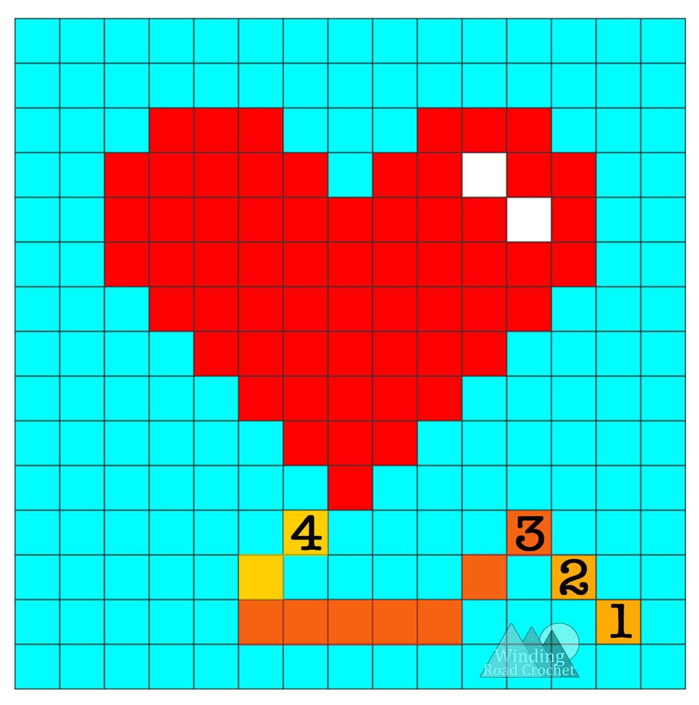 Heart Balloon C2C Graph