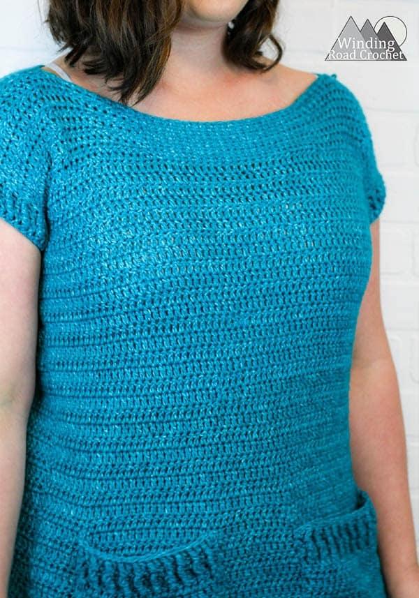crochet tunic tee