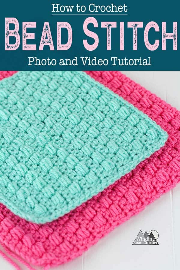 Follow the photo or video tutorial to learn to crochet the beautiful bead stitch. #crochetstitch #crochettutorial