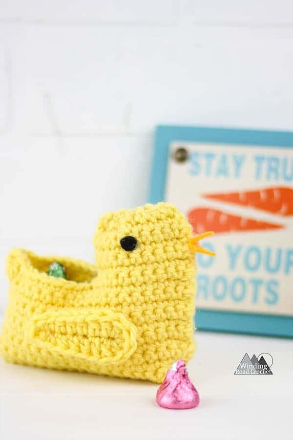 Crochet Chick Easter Basket