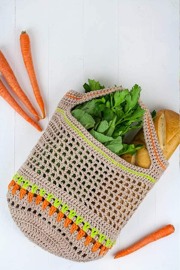 Vegetable Market Bag Free Crochet Pattern Winding Road Crochet
