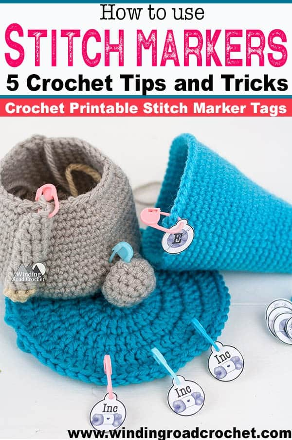 Learn how to use crochet stitch markers and some crochet tips and tricks that will make your projects easier. Crochet Printable stitch marker tags available. Read post to learn more. #crochettips #stitchmarkers #crochetprintable #crochetstitchmarkers