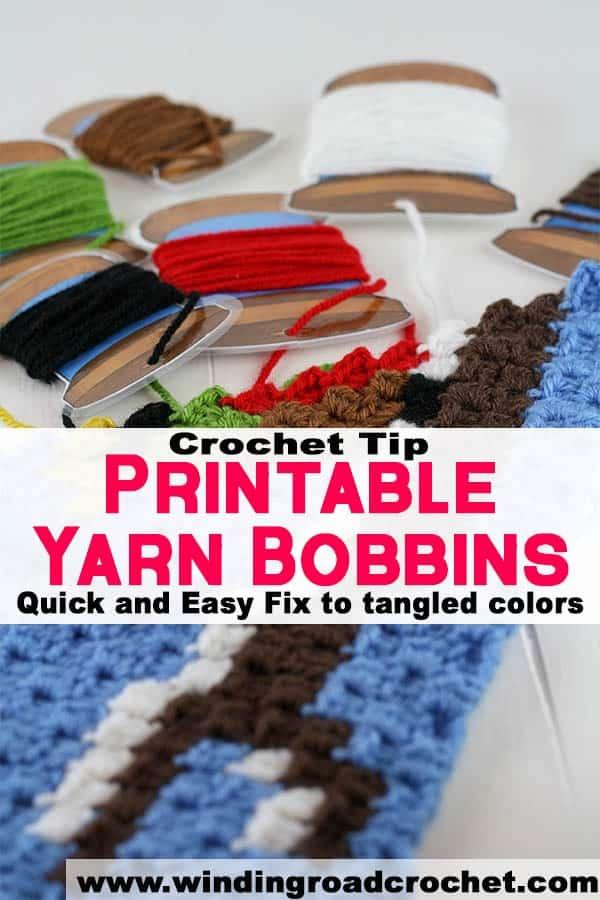 crochet tips, yarn bobbins, crochet printables, quick and easy, winding road crochet