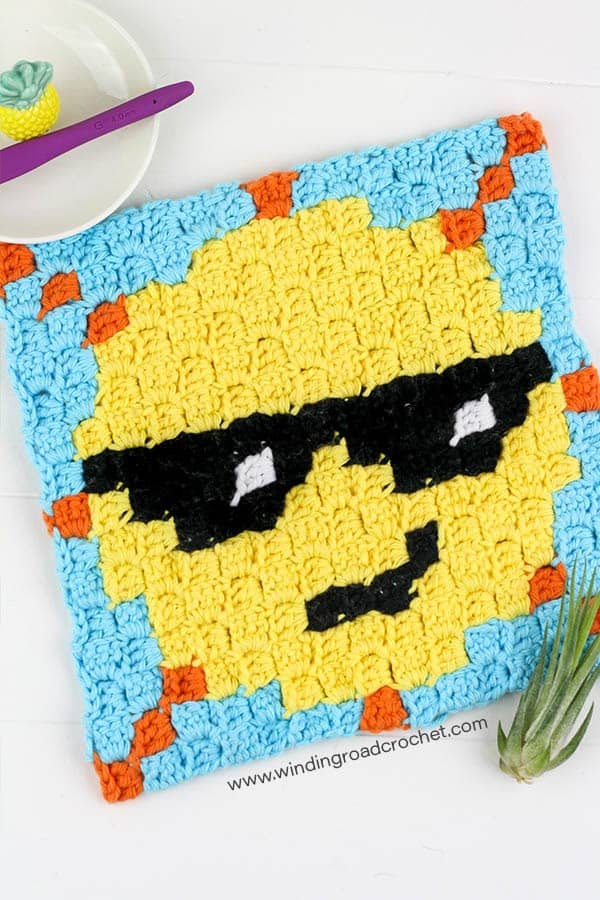 Mr  Sunshine: Sun C2C Crochet Graph - Winding Road Crochet