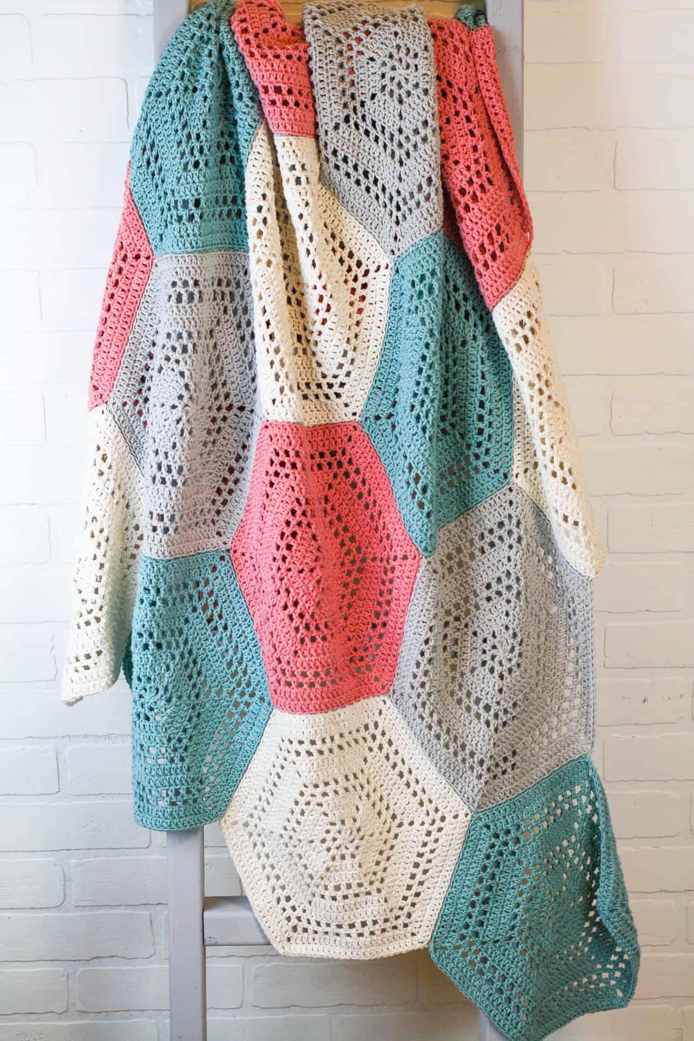 How to Crochet a Hexagon Blanket - Winding Road Crochet