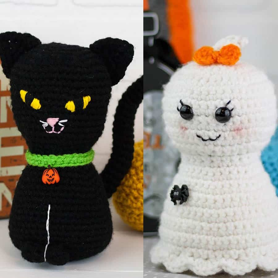 Crochet Halloween Cat Toy Softies Amigurumi Free Patterns | 900x900