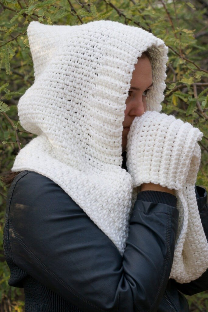 Woodland Hooded Scarf Crochet Pattern Winding Road Crochet