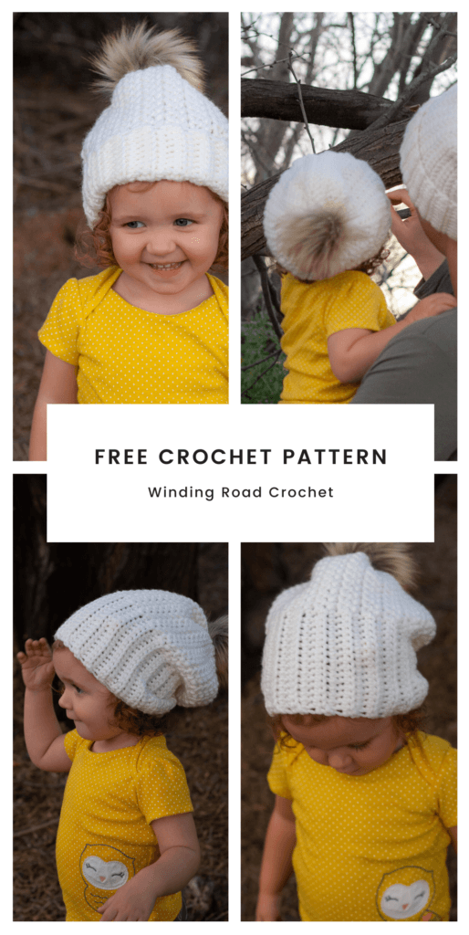 The Baby and Me Herringbone crochet beanie free crochet pattern has a child/baby and adult size. This is an easy to follow pattern with video tutorial.