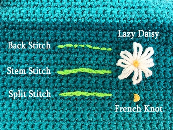 Embroidering on crochet is a wonderful way to add special details to your project. Learn to embroider on crochet with tips, tricks and a video tutorial.
