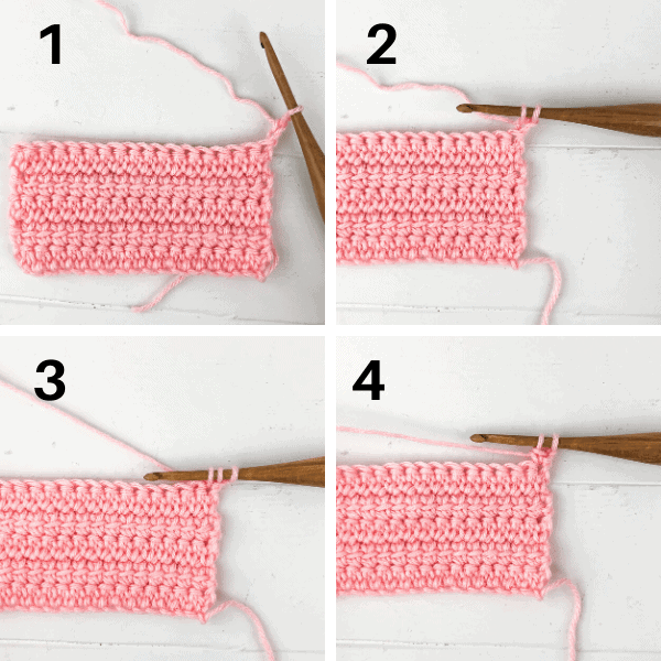 Learn to crochet the linked double crochet stitch. It is a modified double crochet that leave you with no holes. Video and photo tutorial.