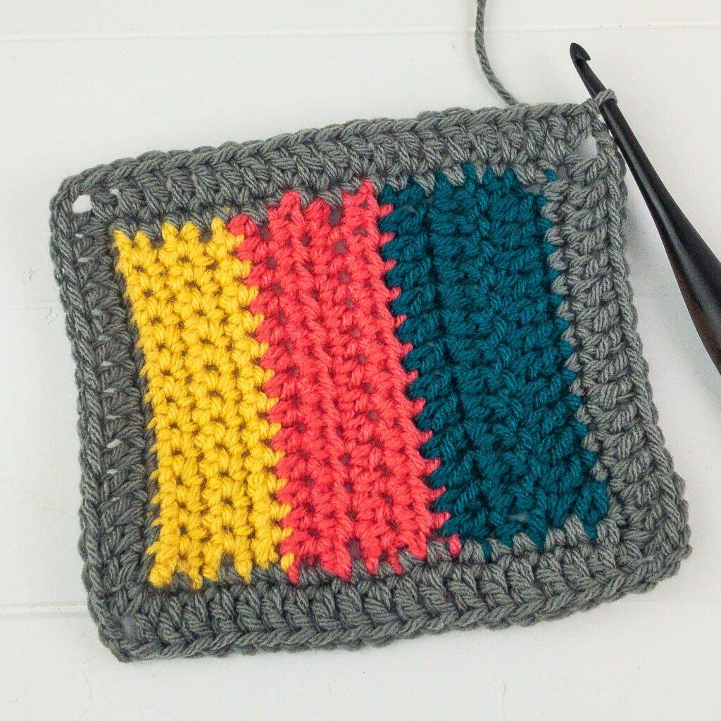 Crochet Blanket Border Row 1