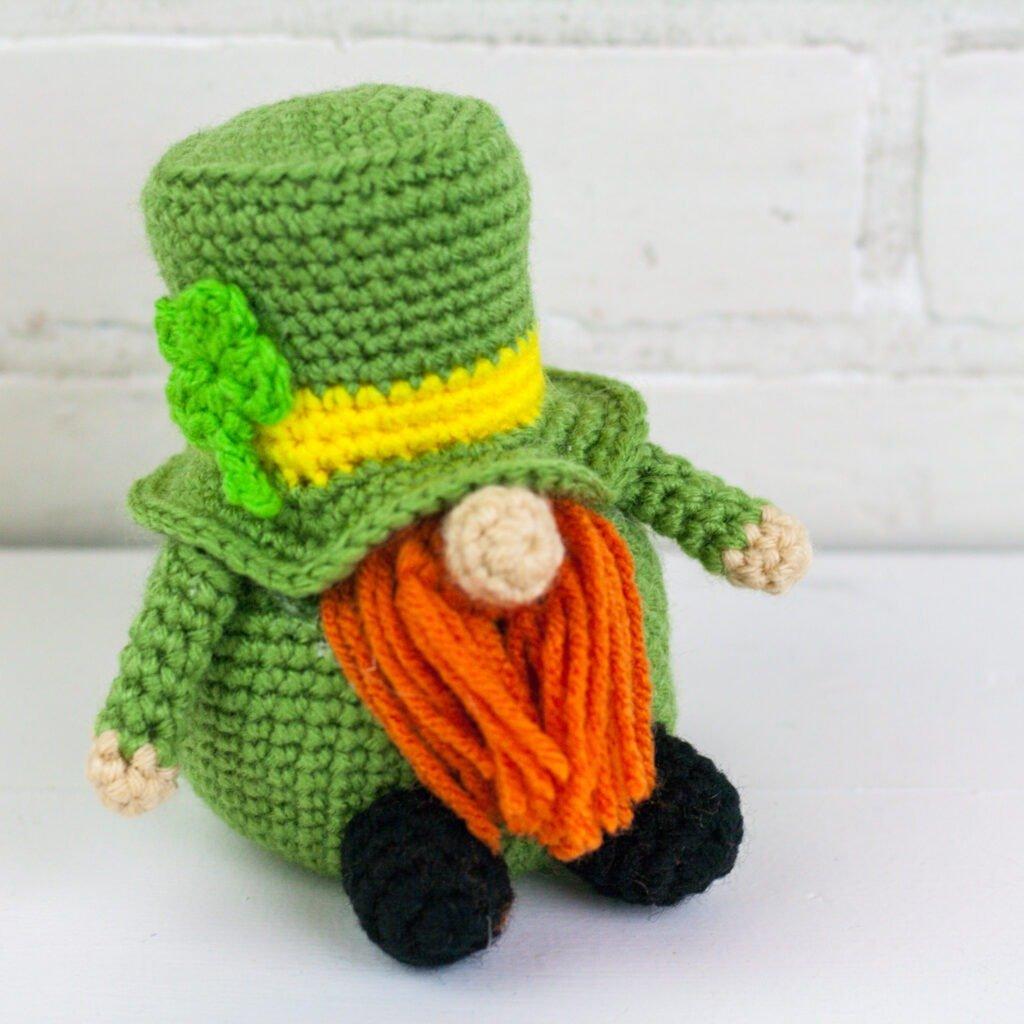 St. Patrick's Day Holiday Crochet Gnome