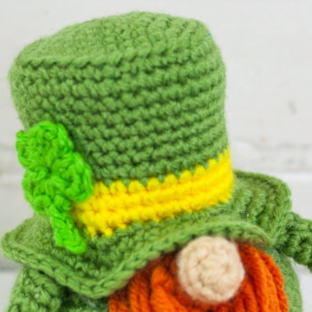St. Patrick's Day Holiday Crochet Gnome