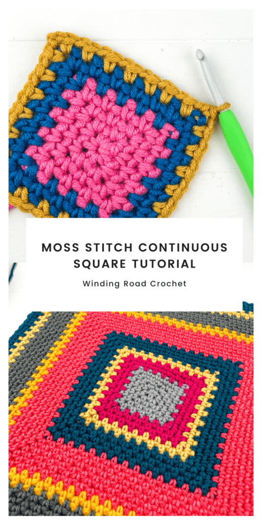 You are going to love the crochet moss stitch square tutorial. Follow the written pattern, the video or the charts to learn this creative crochet technique.