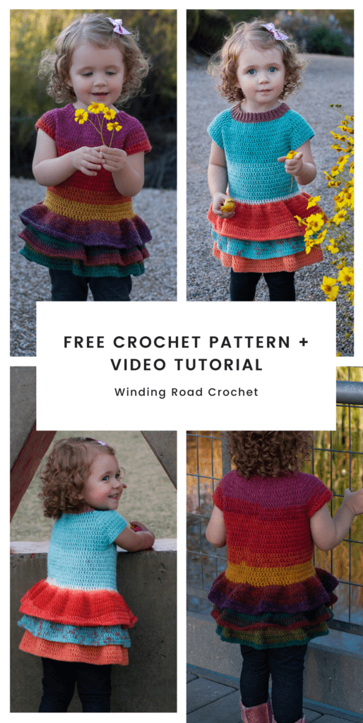 This toddler crochet sweater will turn heads with its cute ruffles. Crochet one for your little girl with this easy free crochet pattern and video tutorial.