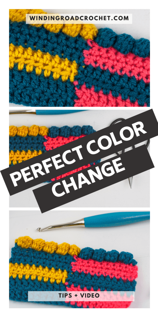 Learn two rules that teach you to change colors in crochet for any stitch. Plus a video tutorial showing you how this works for any stitch.